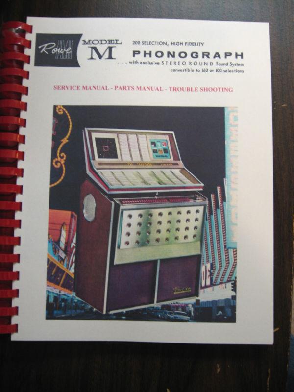 ROWE AMI JBM Model Jukebox Manual