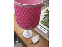 Pink Spotted Table Lamp