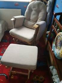 baby rocking, nursing chair