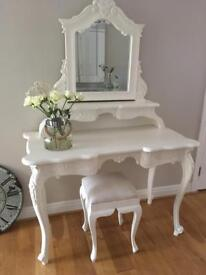 Upcycled Antique French Inspired Dressing Table