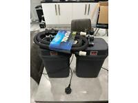 Fish tank filters Fluval 305 x2 plus new hosing.