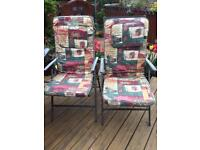 Garden chair padded seats