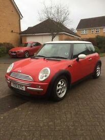2001 51 MINI COOPER 1.6 IN RED LONG MOT PANORAMIC ROOF GOOD RELIABLE CHEAP CAR ALLOYS CD PLAYER