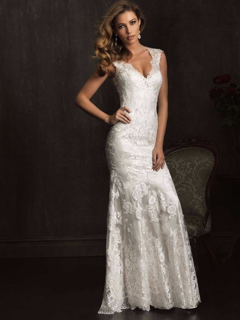 Allure Ivory Lace Wedding Dress - 9068 - Size 10/12 - £599 | in ...