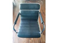 Dir Hairdressing Chairs x 2 black italian leather.