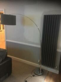 Large curved floor lamp