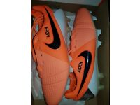 Mens Nike Football boots personalised with name Aiden.