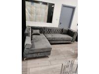 Best Sale Price Ever Brand New Box Packed plush velvet Corner Sofa Set available