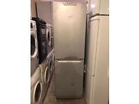Family Size Hotpoint Silver Fridge Freezer (Fully Working & 3 Month Warranty)