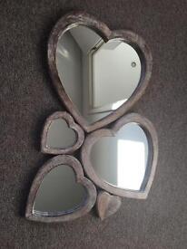 BNWOB Sass & Belle Multi Heart Shaped Wooden Wall Mirror