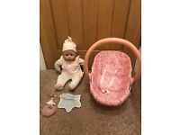 Baby Annabell doll and carrier