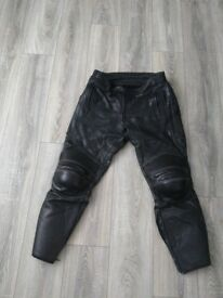 Akito leather motorcycle trousers