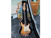 Yamaha Pacifica guitar with Peavy rage amp