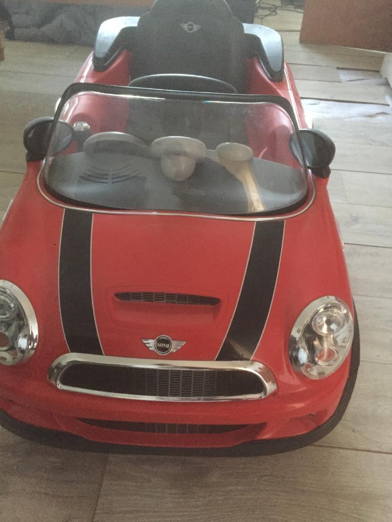 Kids 6v Mini Cooper S ride on car