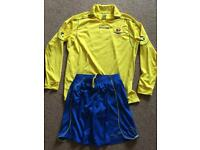 STANNO ROYAL/YELLOW ADULT FOOTBALL KIT (LARGE)
