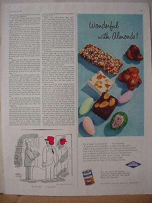1956 Blue Diamond Almonds California Candy Snack Food Vintage Print Ad 10652