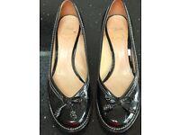 Black Clarks Court Shoe Size 6