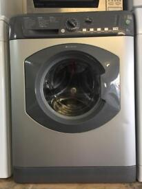 Hotpoint silver good looking 8kg 1400spin washing machine