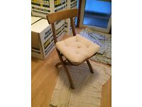 REDUCED, OPEN TO OFFERS !!! x4 IKEA Chairs with Cushions