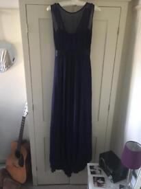 Maids to measure navy bridesmaid dress