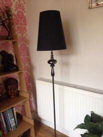 Dunhelm black chrome floor lamp