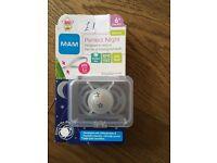 New (never opened) Mam 6+ dummy. RRP £5.75