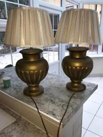 Gorgeous gold painted lamps