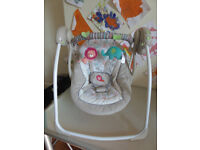 6 Speed 6 Melody Portable Baby Swing - Cozy Kingdom By Ingenuity