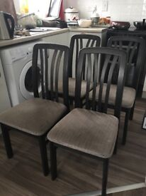One set of grey chairs for sale