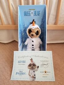 Meerkat Frozen collectable soft Olaf compare the market toy Brand new with certificate.