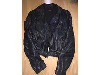Topshop faux leather jacket size 10