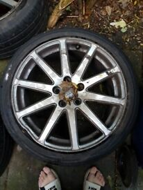 4 audi tt mk 2 18inch alloys with tyres, 2 need refurbing and new tyres,