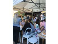 Garden cafe at the Calthorpe Project, Monday - Friday, 10-5pm.