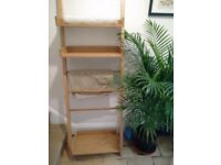 Bamboo towel rail with shelves