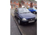 1998 very Very low mileage Vauxhall Corsa. Just passed MOT. 46000 Genuine Miles. ( Like A 2012)