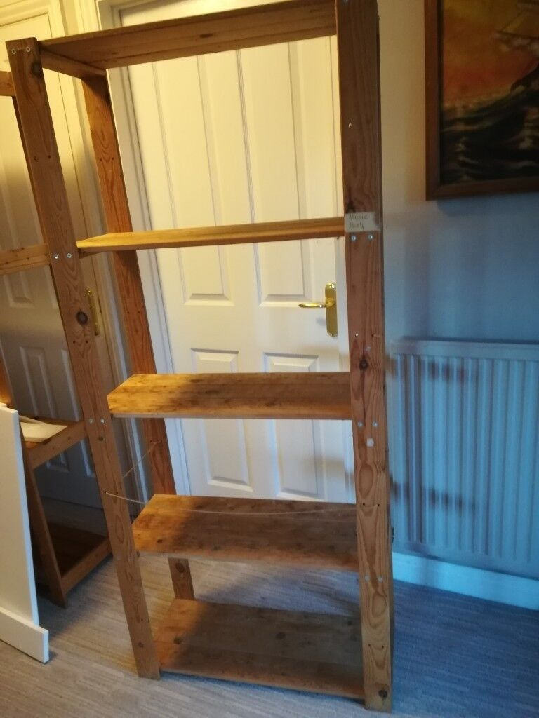 watch a6492 07b0f Two wooden IKEA free standing shelves, | in Usk ...