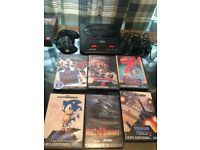 Sega mega drive 2 with six games