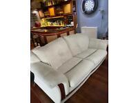 Cream 2&3 seater sofas