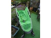 Green pushchair