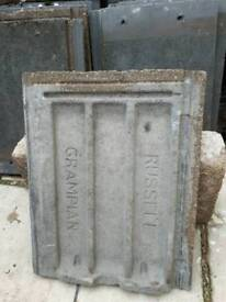 Russell Grampian grey roof tiles and left/right hand dry Verge *New low price*