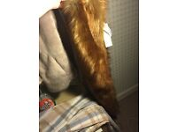 Womens faux fur stole