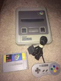 Super Nintendo snes and Mario workd
