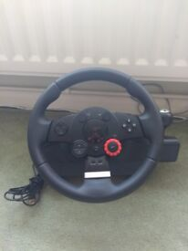Logitech Driving Force GT - Steering Wheel and Pedals - PS2, PS3, PC