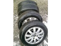 Peugeot 206 Alloys + Tyres +Studs