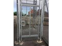 Galvanised palisade gate like new