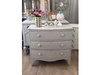 Shabby chic Victorian bow chest of drawers by Eclectivo