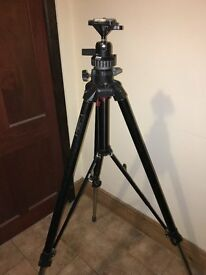 Manfrotto camera tripod 058B with 168 ball head and case