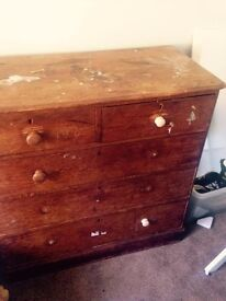 Victorian Teak chest of Drawers