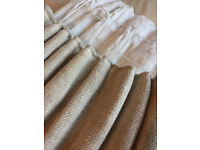 Large cream thermal curtains, perfect for bay