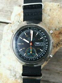 vintage rare mens seiko helmet chronograph watch automatic 6139-7100 day date